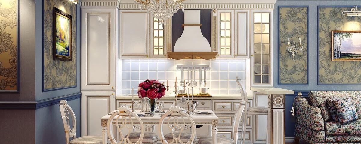 Дизайн интереьеров в классическом стиле в Спб